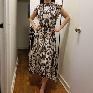 Like new Reiss pattered maxi dress chiffon silky